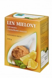 Len mielony cytrynowy 150 g Suplement Diety