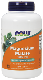 NOW FOODS Magnesium Malate 1000mg, 180tabl. - Jabłczan magnezu