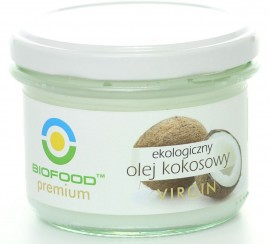 OLEJ KOKOSOWY VIRGIN BIO 180 ml - BIO FOOD