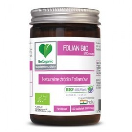 FOLIANY EKSTRAKT BIO 100 TABLETEK (600 mcg) - BE ORGANIC